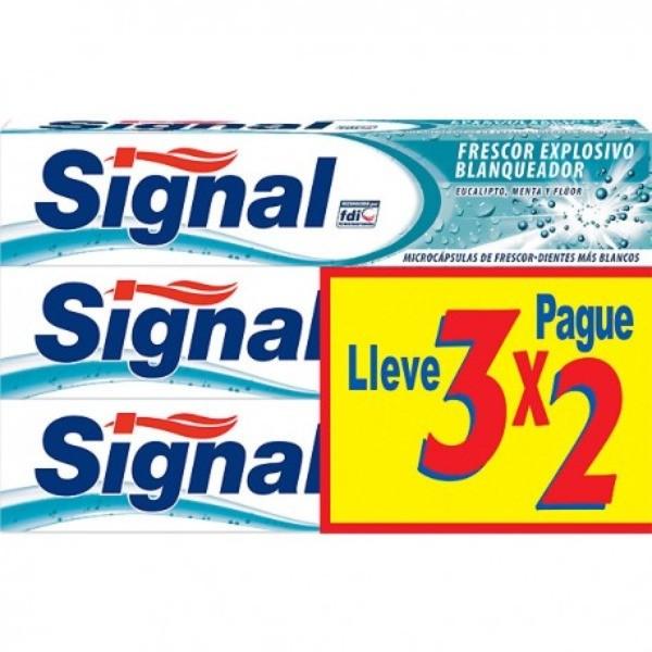 Signal Dentífrico Frescor Explosivo 3x2 de 75ml