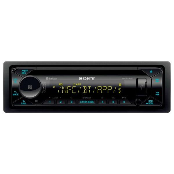 Sony mex-n5300bt radio cd con tecnología inalámbrica usb y doble bluetooth iluminación bizona tres presalidas