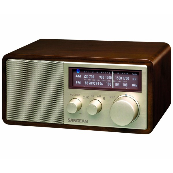 Sangean wr-11 bt nuez radio analógica sobremesa am fm bluetooth nfc