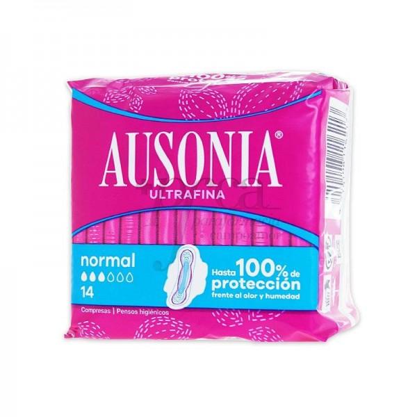 Ausonia air dry compresas normal con alas 14u