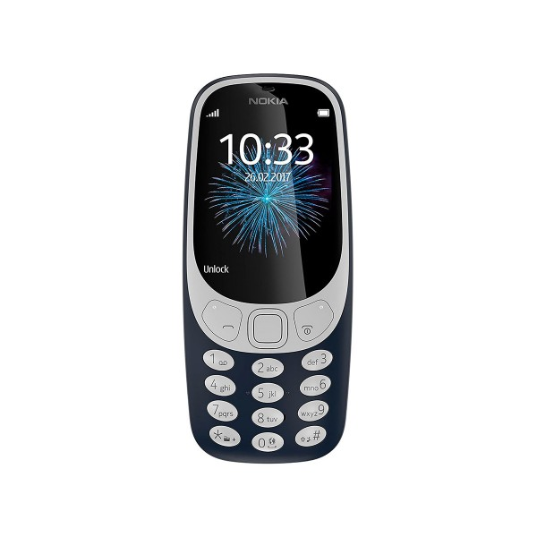 Nokia 3310 (2017) azul oscuro móvil senior dual sim 2.4'' cámara 2mp bluetooth radio fm microsd