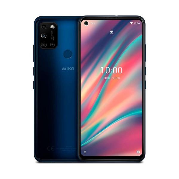 Wiko view5 azul móvil 4g dual sim 6.55'' ips hd+ octacore 64gb 3gb ram quadcam 48mp selfies 8mp