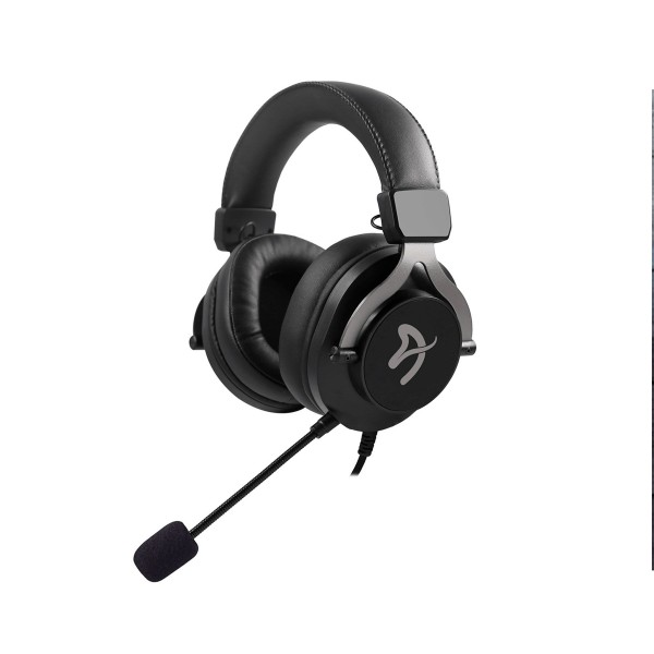 Arozzi aria gaming auriculares negro/micrófono desmontable/control volumen/cuero